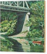 Russian River Wood Print