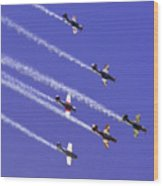Russian Roolettes And Blue Sky Wood Print