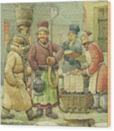 Russian Scene 04 Wood Print