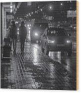Russian Street Scene At Night 2015 Wood Print