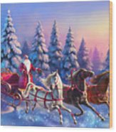 Russian Three-horse Wood Print