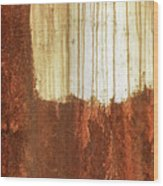 Rust 01 Wood Print