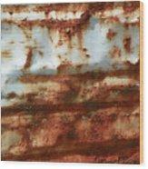 Rust 22 Wood Print