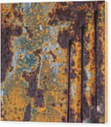 Rust Abstract Car Part Wood Print