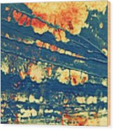Rust And Lace Wood Print