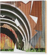 Rust And Our Carbon Footprint Wood Print