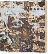 Rust And Torn Paper Posters Wood Print