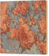 Rust Art Wood Print