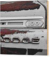 Rust Dodge 6 Selective Color Wood Print