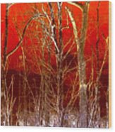 Rust Forest Wood Print
