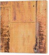 Rust On Metal Texture Wood Print