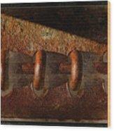 Rust Rings Wood Print