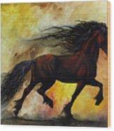 Rust Unicorn Wood Print