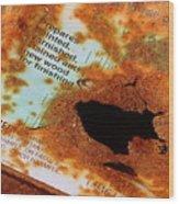 Rust Warning Photograph Wood Print