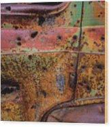 Rusted Beauty Wood Print