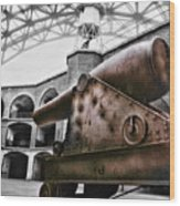 Rusted Cannon Wood Print