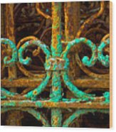 Rusted Gates Wood Print