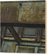 Rusted Steel Support Structure Wood Print