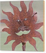 Rusted Sunshine Wood Print