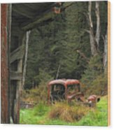 Rusted Truck Wood Print by Barry Culling