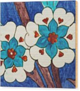 Rustem Pasha Mosque Flower Tile Wood Print