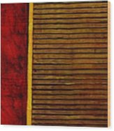 Rustic Abstract One Wood Print