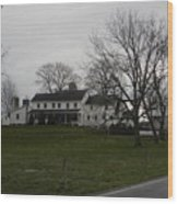 Rustic Amish Farmstead Wood Print