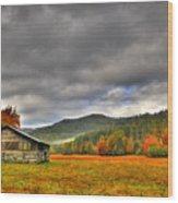 Rustic Autumn Barn Wood Print