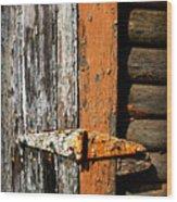 Rustic Barn Hinge Wood Print