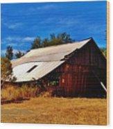 Rustic Barn Of Newcastle Wood Print