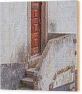 Rustic Brown Door Of Portugal Wood Print