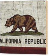 Rustic California State Flag Design Wood Print