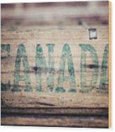 Rustic Canada Wood Print