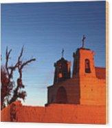 Rustic Colonial Church At Chiu Chiu Chile Wood Print