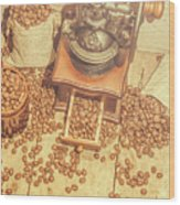 Rustic Country Coffee House Still Wood Print