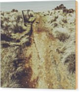 Rustic Country Trails Wood Print