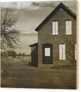 Rustic County Farm House Wood Print