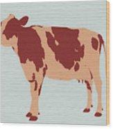 Rustic Cow Wood Print