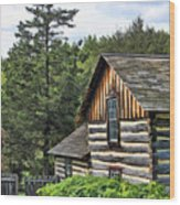 Rustic Farmhouse At Old World Wisconsin Wood Print