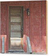 Rustic In Red Wood Print