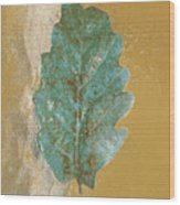Rustic Leaf Wood Print