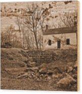 Rustic Lockhouse Mural Wood Print