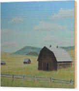 Rustic Montana Barn Wood Print