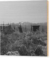 Rustic Montana View Wood Print