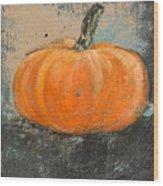 Rustic Pumpkin Wood Print