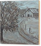 Rustic Road Wood Print