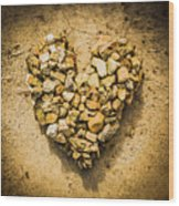 Rustic Rock Romance Wood Print