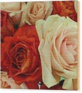 Rustic Rose Bouquet Wood Print
