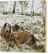 Rustic Rural Decay Wood Print