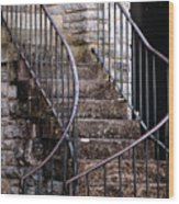 Rustic Staircase Wood Print
